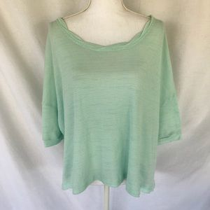Free People Green Oversized Crop Top Size XS